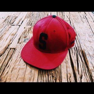 "Stussy Red ""S"" Baseball Cap"
